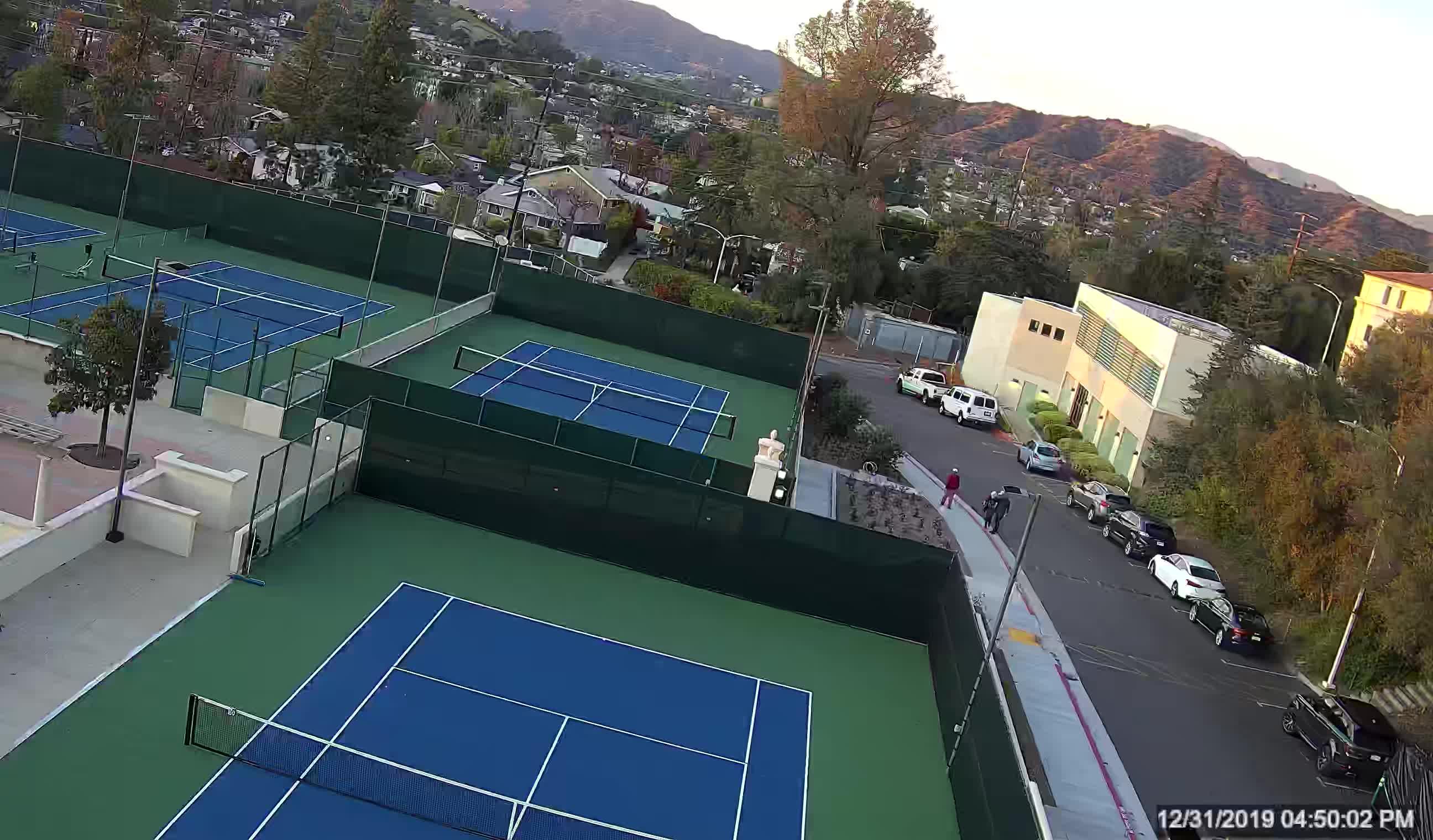 Tennis court construction site