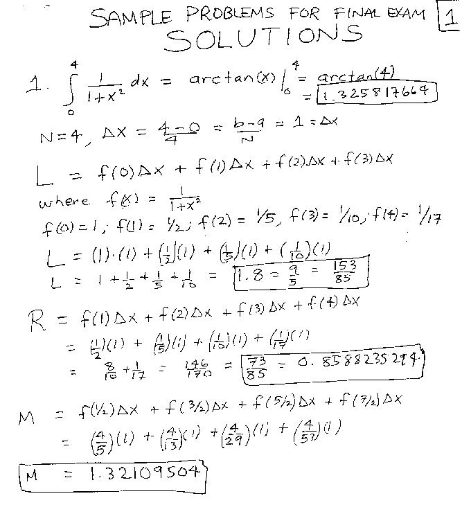 Basic calculus problems with solutions pdf