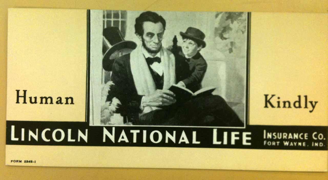 national envelope vtg lincoln insurance life pin co abe premium org poster