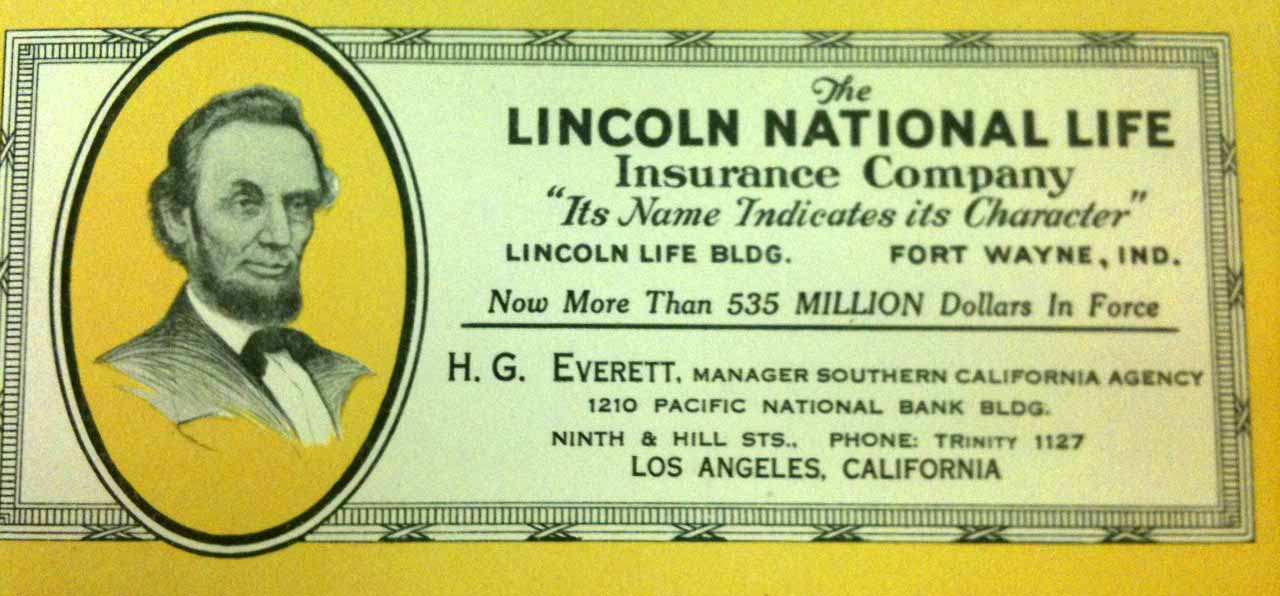 the ads and national lincoln life vintage money insurance of banking co l page